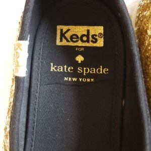 Keds Shoes - Keds Kate Spade Gold Glitter shoes